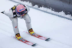 Michael Neumayer of Germany competes during Trial round of the FIS Ski Jumping World Cup event of the 58th Four Hills ski jumping tournament, on January 5, 2010 in Bischofshofen, Austria. (Photo by Vid Ponikvar / Sportida)