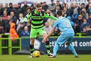 Forest Green Rovers Dayle Grubb(8) takes on Coventry City's Michael Doyle(8) during the EFL Sky Bet League 2 match between Forest Green Rovers and Coventry City at the New Lawn, Forest Green, United Kingdom on 3 February 2018. Picture by Shane Healey.