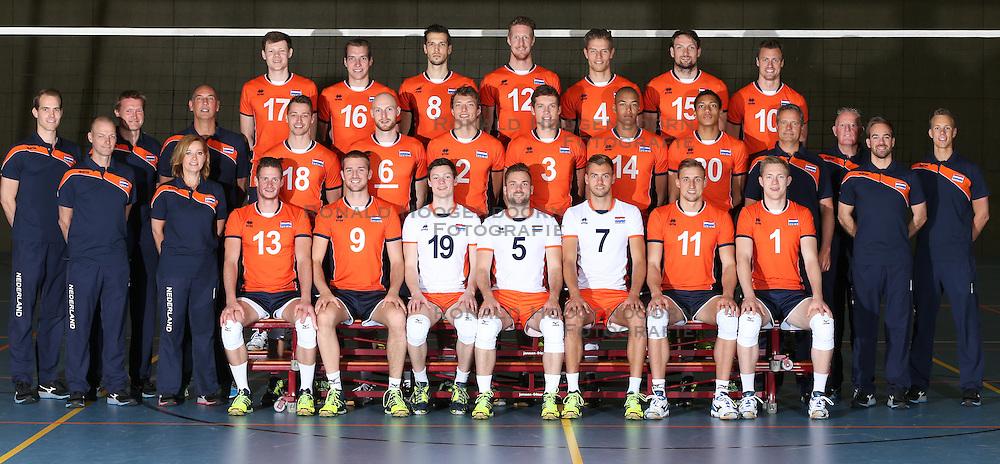 20160516 NED: Selectie Nederlands volleybal team mannen, Arnhem<br />Team Nederland inclusief staf