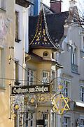 Maximilianstraße, Altstadt von Lindau, Bodensee, Bayern, Deutschland