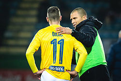 Milan Đajič of Bravo and Dejan Grabić, head coach of Bravo during football match between NŠ Mura and NK Bravo in 20th Round of Prva liga Telekom Slovenije 2019/20, on December 5, 2019 in Fazanerija, Murska Sobota, Slovenia. Photo by Blaž Weindorfer / Sportida