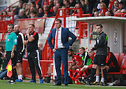 Leyton Orient manager Ian Hendon is frustrated as his team head to defeat during the Sky Bet League 2 match between Crawley Town and Leyton Orient at the Checkatrade.com Stadium, Crawley, England on 10 October 2015. Photo by Bennett Dean.