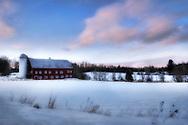 Dairy barn near Stowe, Vermont