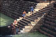 Granite steps at bathing pool. Anuradhapura.