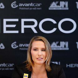 20121220: SLO, Tennis - Press conference of Polona Hercog