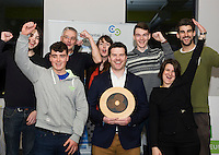 Repro FREE:  ExOrdo star with Paul Killoran (front centre) Galway's Best Young Entrepreneur, IBYE 2016 Awarded by Local Enterprise Office Galway at the Portershed. <br /> Photo:Andrew Downes, xposure