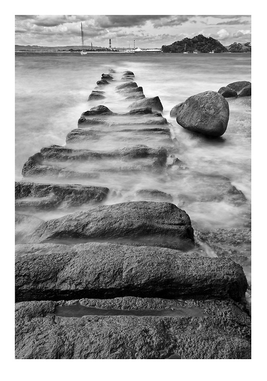 Manaia's Causeway - Taurikura<br /> <br /> Available to view at my studio.<br /> <br /> Print options:<br /> <br /> PRINT:<br /> A4 - $115 (with white matt)<br /> A3 - $175 <br /> A2 - $245<br /> <br /> FRAMED PRINT<br /> A4 - $225<br /> A3 - $360<br /> A2 - $480<br /> <br /> Contact Alan to order through the contact tab above, or at info@alansquires.co.nz<br /> <br /> N.B.<br /> All prints are signed and numbered.<br /> P&P - free within Whangarei District.<br /> The wood frames come in black or white.<br /> All black and white prints are made on archival cotton rag paper (360gsm).<br /> All colour prints are on Luster paper (240gsm).