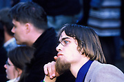 A geeky looking man, with glasses and a goatee beard, Quart festival, Kristiansands Norway 2000