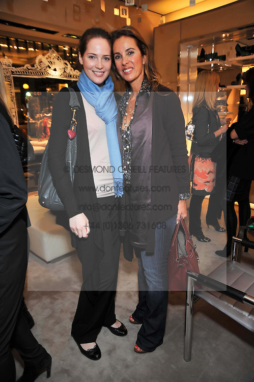 Left to right, NATALIA TSAVLIRIS and her mother MILENA TSAVLIRIS at a party to celebrate the arrival of the 'A Princess to be a Queen' collection at the Roger Vivier boutique on Sloane Street, London on 20th October 2009.
