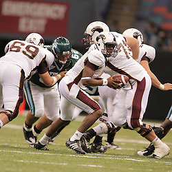 20 September 2008: Louisiana-Monroe quarterback Kinsmon Lancaster (7)in action during a Conference USA match up between the University of Louisiana Monroe and Tulane at the Louisiana Superdome in New Orleans, LA.