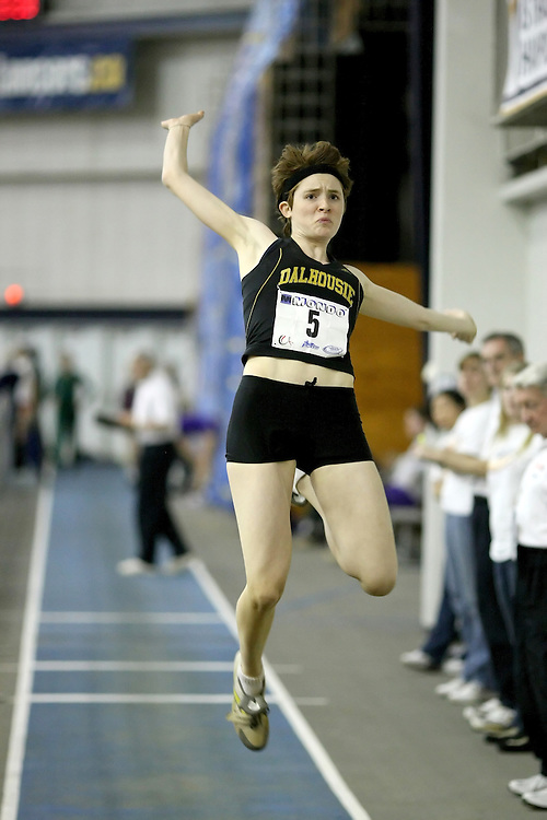Windsor, Ontario ---13/03/09--- Mary Frances Lynch of  Dalhousie University competes in the Women's Long Jump Final at the CIS track and field championships in Windsor, Ontario, March 13, 2009..Sean Burges Mundo Sport Images