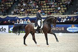 Bouten Matthias, (GER), Sohnlein Brilliant MJ<br /> Grand Prix  Kür Dressage München 2015<br /> © Hippo Foto - Stefan Lafrentz