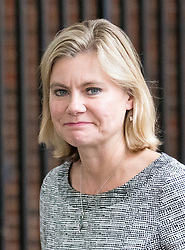 © Licensed to London News Pictures. 21/09/2017. London, UK. Education Secretary Justine Greening leaving No 10 Downing Street after attending a Cabinet meeting this morning. Photo credit : Tom Nicholson/LNP