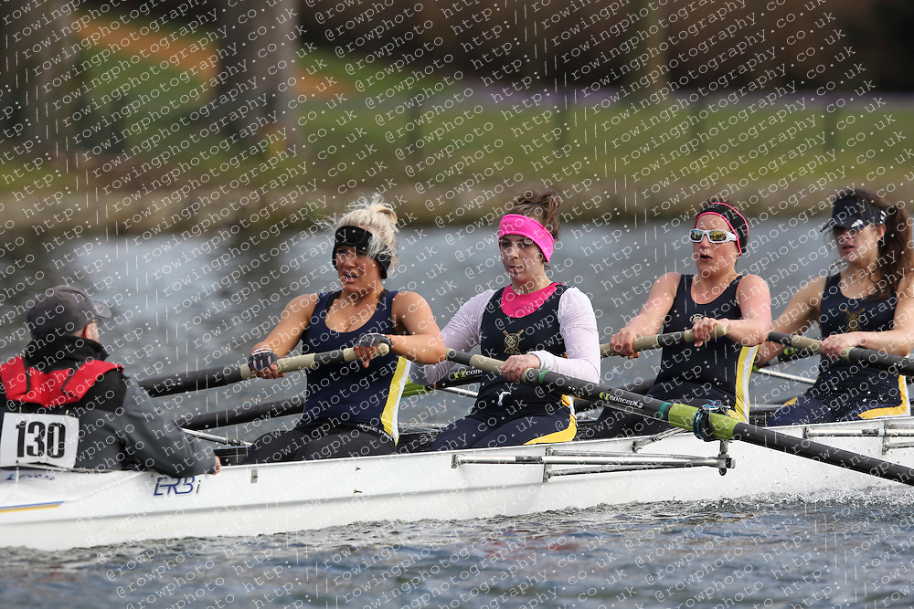 2012.02.25 Reading University Head 2012. The River Thames. Division 1. Eton Excelcior Boat Club WNov 8+