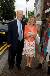 MARSHA FITZALAN-HOWARD and NICK GEORGE at the annual Sir David & Lady Carina Frost Summer Party in Carlyle Square, London SW3 on 5th July 2007.<br />