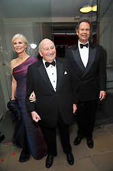 Left to right, The COUNTESS OF CHICHESTER, SIR DONALD GORDON and the EARL OF CHICHESTER at the Royal Rajasthan Gala 2009 benefiting the Indian Head Injury Foundation held at The Banqueting House, Whitehall, London on 9th November 2009.