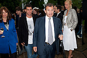ANITA ZABLUDOWICZ; POJU ZABLUDOWICZ, The Summer party 2011 co-hosted by Burberry. The Summer pavilion designed by Peter Zumthor. Serpentine Gallery. Kensington Gardens. London. 28 June 2011. <br /> <br />  , -DO NOT ARCHIVE-© Copyright Photograph by Dafydd Jones. 248 Clapham Rd. London SW9 0PZ. Tel 0207 820 0771. www.dafjones.com.