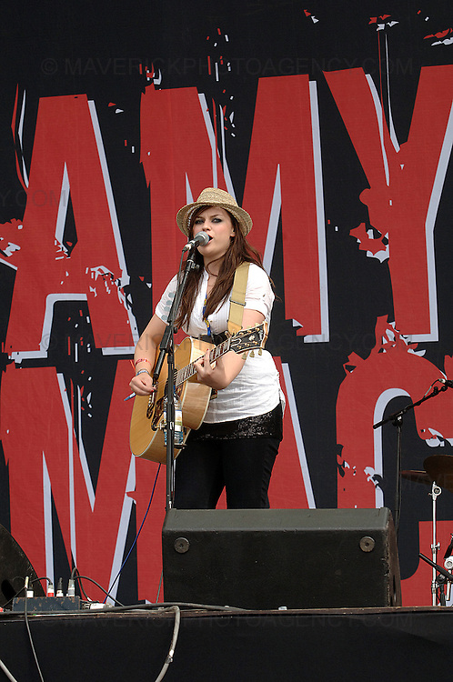 BALADO, KINROSS, SCOTLAND - JULY 13th 2008: Amy MacDonald performs live at T in the Park 2008.