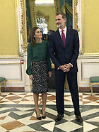 100818 Spanish Royals attens an Annual Meeting of the Board of Trustees of the Cervantes Institute