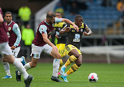 Erik Pieters of Burnley and Michael Obafemi of Southampton in action - Mandatory by-line: Jack Phillips/JMP - 10/08/2019 - FOOTBALL - Turf Moor - Burnley, England - Burnley v Southampton - English Premier League
