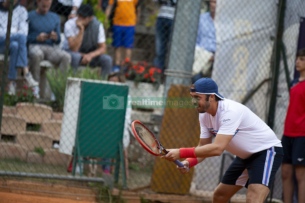 June 19, 2018 - L'Aquila, Italy - Paolo Lorenzi during match between Carlos Boluda-Purkiss (ESP) and Paolo Lorenzi (ITA) during day 4 at the Internazionali di Tennis Città dell'Aquila (ATP Challenger L'Aquila) in L'Aquila, Italy, on June 19, 2018. (Credit Image: © Manuel Romano/NurPhoto via ZUMA Press)