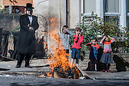 Passover in Stamford Hill, London - Burning of Chametz