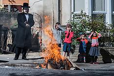 Passover in Stamford Hill, London - Burning of Chametz