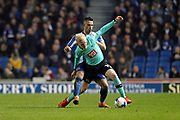 Derby County midfielder Will Hughes (19) and Brighton & Hove Albion central midfielder Beram Kayal (7) during the EFL Sky Bet Championship match between Brighton and Hove Albion and Derby County at the American Express Community Stadium, Brighton and Hove, England on 10 March 2017.