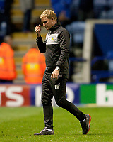 Football - The Championship- Leicester  v Burnley-Burnly manager Eddie Howe leaves the field in frustration at The King Power Stadium
