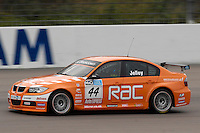 2009 British Touring Car Championship.  Rockingham, Northamptonshire, United Kingdom. 19th-20th September 2009.  (44) - Stephen Jelley (GBR) - Team RAC BMW 320si E90.  World Copyright: Peter Taylor/PSP. Copy of publication required for printed pictures. Every used picture is fee-liable.