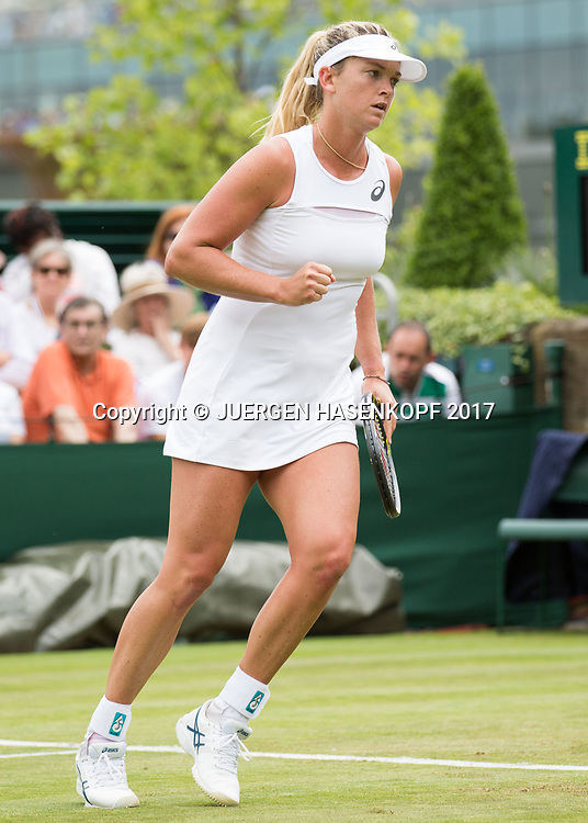COCO VANDEWEGHE (USA) macht die Faust und jubelt,Jubel,Emotion,<br /> <br /> Tennis - Wimbledon 2016 - Grand Slam ITF / ATP / WTA -  AELTC - London -  - Great Britain  - 4 July 2017.