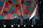 2018 Buenos Aires Youth Olympic Games. <br /> <br /> Five sailing events with 100 sailors from 44 different nations are taking place at Club N&aacute;utico San Isidro, Argentine including Girl's and Boy's Kiteboarding (Twin Tip Racing) and the Mixed Multihull (Nacra 15). Elsewhere, Girl's and Boy's Windsurfing (Techno 293+) are returning for its third consecutive Games from 6 to 18 October 2018. Opening Ceremony<br /> &copy; Matias Capizzano / World Sailing
