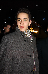 OMAR AL-FAYED, son of Mohamed al-Fayed at the launch of he LG 'Shine' Black Label Series mobile phone held at Cirque, Leicester Square, London W1 on 7th February 2007.<br /><br />NON EXCLUSIVE - WORLD RIGHTS