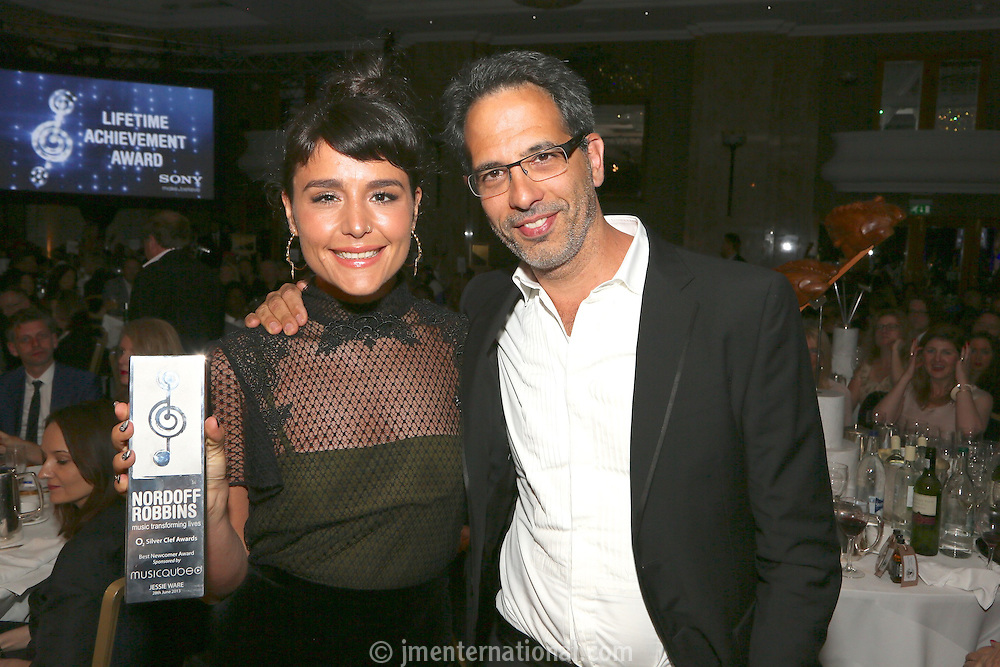 Jessie Ware and Yotam Ottolenghi. The Silver Clef Lunch 2013 in aid of  Nordoff Robbins held at the London Hilton, Park Lane, London.<br /> Friday, June 28, 2013 (Photo/John Marshall JME)