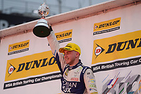 #116 Ashley Sutton Adrian Flux Subaru Racing during Championship Podium Celebrations as part of the BTCC Championship at Brands Hatch, Fawkham, Longfield, Kent, United Kingdom. October 01 2017. World Copyright Peter Taylor/PSP.