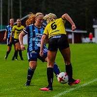 2020-07-01 | Bankeryd, Sverige: Bankeryds (6) Siri Liljegren och Husqvarna (5) Johanna Nordh under matchen i Toyota Cup mellan Bankeryd och Husqvarna på Furuviks IP ( Foto av: Marcus Vilson | Swe Press Photo )<br /> <br /> Nyckelord: Bankeryd, Fotboll, Toyota Cup, Furuviks IP, Bankeryd, Husqvarna, mvbh200701