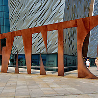 Titanic Sign at Titanic Belfast in Belfast, Northern Ireland<br />