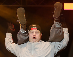 10.01.2016, Schladming, AUT, Special Olympics Pre-Games in Graz-Schladming-Ramsau, Eröffnungsfeier im WM-Park Planai, im Bild die Tanz-Performance Ich bin ok! // dancing performance during the opening ceremony of the Special Olympics Pre-Games in Schladming, Austria on 2016/01/10. EXPA Pictures © 2016, PhotoCredit: EXPA / Martin Huber