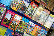 Display of brochures about tourist attractions in East Anglia, England