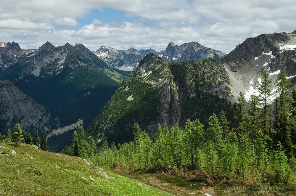 North Cascades seen from Summit of Maple Pass, Washington