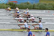 Eton Dorney, Windsor, Great Britain,..2012 London Olympic Regatta, Dorney Lake. Eton Rowing Centre, Berkshire[ Rowing]...Description;  Heat, Men's double Sculls: NZL M2X..Nathan COHEN (b) , Joseph SULLIVAN (s).ITA M2X   Alessio SARTORI (b) , Romano BATTISTI (s).GER.M2X Eric KNITTEL (b) , Stephan KRUEGER (s).AUS.David CRAWSHAY (b) , Scott BRENNAN (s).Dorney Lake. 12:20:06  Tuesday  31/07/2012.  [Mandatory Credit: Peter Spurrier/Intersport Images].Dorney Lake, Eton, Great Britain...Venue, Rowing, 2012 London Olympic Regatta...