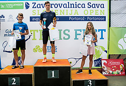 Tilen Potocnik at Tenis Fest trophy ceremony during Day 6 at ATP Challenger Zavarovalnica Sava Slovenia Open 2018, on August 8, 2018 in Sports centre, Portoroz/Portorose, Slovenia. Photo by Vid Ponikvar / Sportida
