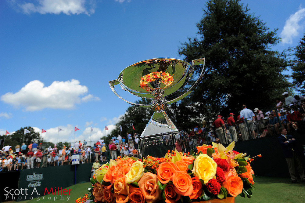 The FedEx Cup awaits the winner during the final round of the PGA Tour Championship the final event of the 2009 FedEx Cup at East Lake Golf Club on Sept. 27, 2009 in Decatur, Ga.     ..©2009 Scott A. Miller