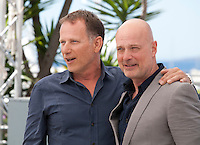 Charles Berling and Christian Berkel at the Elle film photo call at the 69th Cannes Film Festival Saturday 21st May 2016, Cannes, France. Photography: Doreen Kennedy