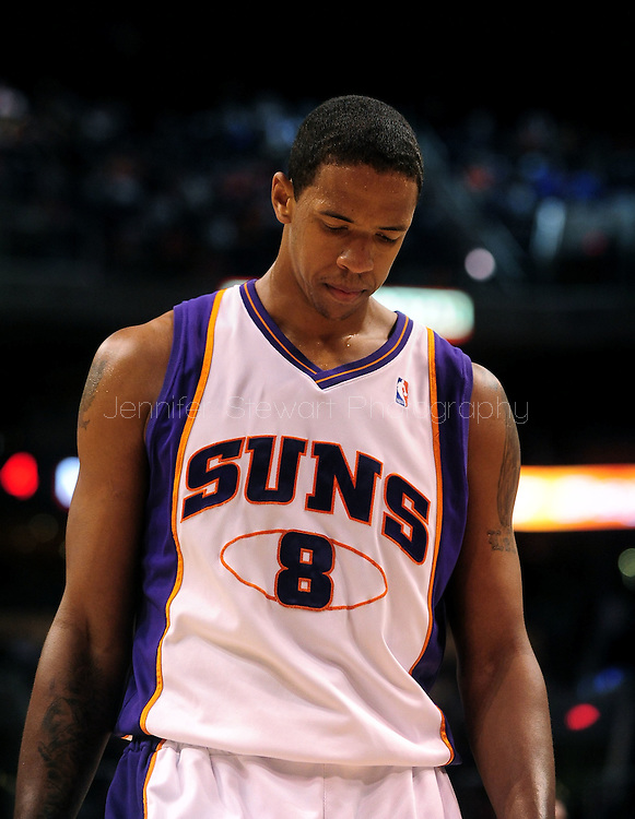 Mar. 16 2010; Phoenix, AZ, USA; Phoenix Suns center Channing Frye (8) in the first half at the US Airways Center. The Suns defeat the Timberwolves 152-114. Mandatory Credit: Jennifer Stewart-US PRESSWIRE.