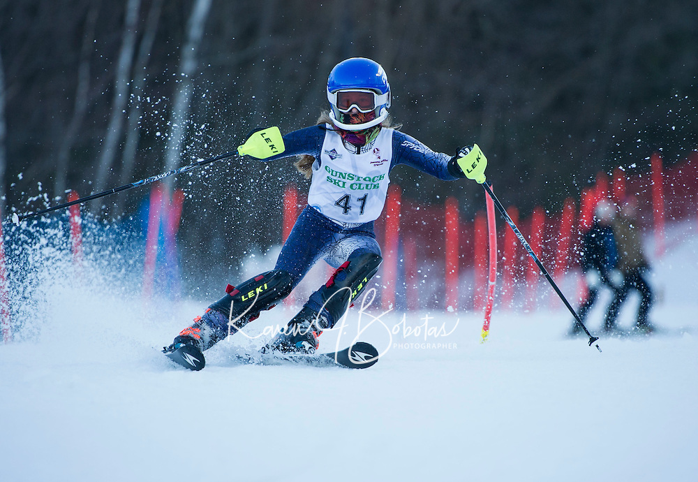 Tony Buttinger memorial slalom U12's with Gunstock Ski Club. <br /> ©2017 Karen Bobotas Photographer