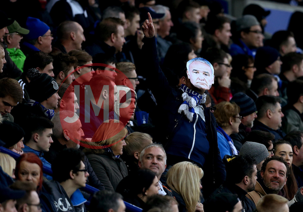 A Leicester City fan wears a mask of Leicester City manager Claudio Ranieri - Mandatory by-line: Robbie Stephenson/JMP - 05/02/2017 - FOOTBALL - King Power Stadium - Leicester, England - Leicester City v Manchester United - Premier League