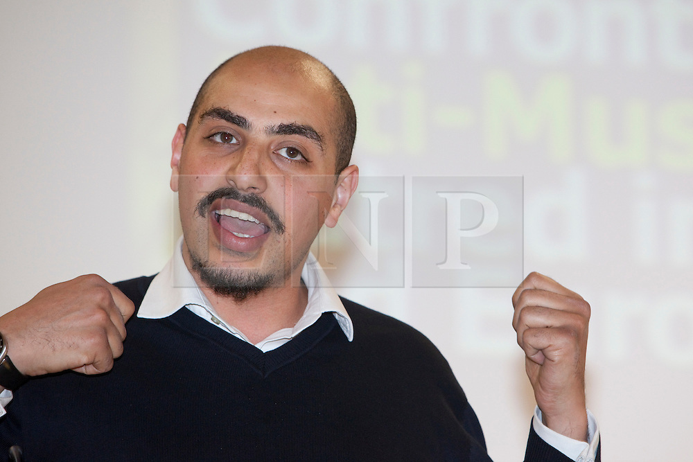 "© under licence to London News Pictures. LONDON, 21/05/2011. Marwan Muhammad of the Collective Against Islamophobia in France speaking at conference ""Confronting Anti-Muslim Hatred in Britain and Europe"". London Muslim Centre. Photo credit should read BETTINA STRENSKE/LNP"