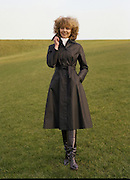 08/02/1978.02/08/1978.8th February 1978.Picture of a women modeling a black coat for Janelle, Finglas
