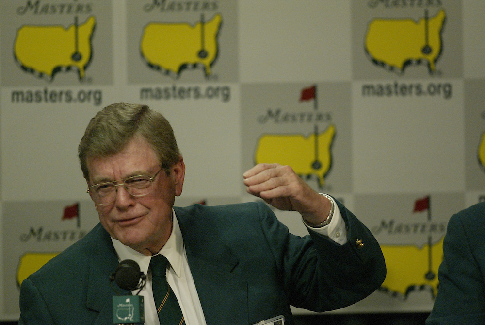 Hootie Johnson..2003 Masters..Chairman's Press Comference..Augusta National GC..Augusta, GA..April 9 2003..Photograph by Darren Carroll